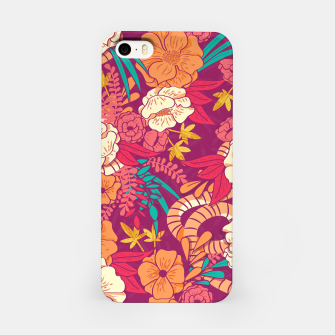 Jungle Pattern 002 iPhone Case Bild der Miniatur