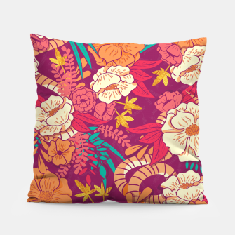 Jungle Pattern 002 Pillow Bild der Miniatur