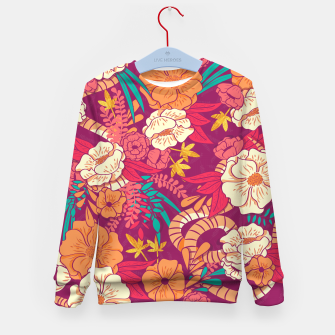 Jungle Pattern 002 Kid's Sweater Bild der Miniatur