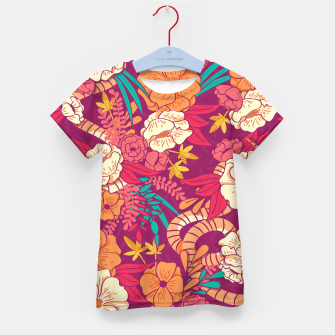 Jungle Pattern 002 Kid's T-shirt Bild der Miniatur