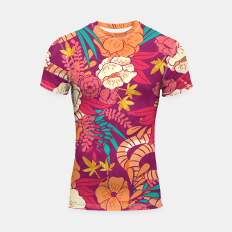 Jungle Pattern 002 Shortsleeve Rashguard Bild der Miniatur