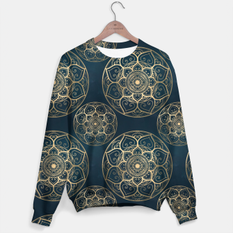 Thumbnail image of Mandala Night Blue Sweater, Live Heroes