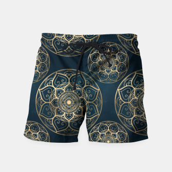 Thumbnail image of Mandala Night Blue Swim Shorts, Live Heroes
