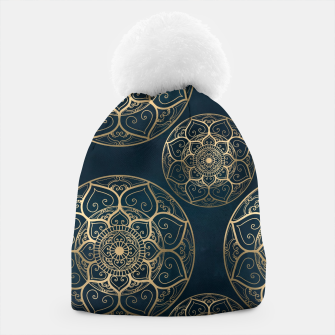 Thumbnail image of Mandala Night Blue Beanie, Live Heroes