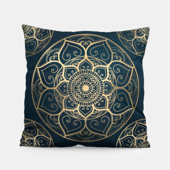 Thumbnail image of Mandala Night Blue Pillow, Live Heroes