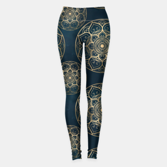 Thumbnail image of Mandala Night Blue Leggings, Live Heroes
