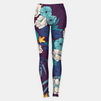 Jungle Pattern 004 Leggings Bild der Miniatur