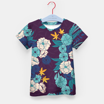 Jungle Pattern 004 Kid's T-shirt Bild der Miniatur