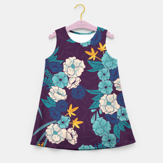 Jungle Pattern 004 Girl's Summer Dress Bild der Miniatur