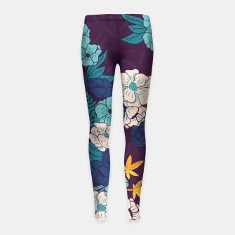 Jungle Pattern 004 Girl's Leggings Bild der Miniatur