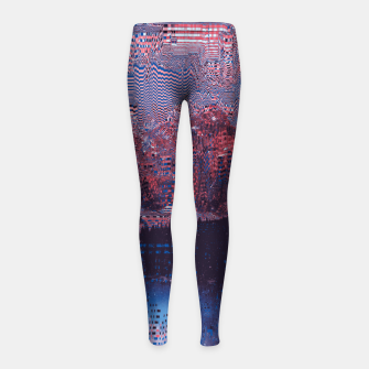 Thumbnail image of Glitch3d Girl's Leggings, Live Heroes