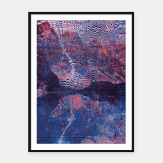 Thumbnail image of Glitch3d Framed poster, Live Heroes