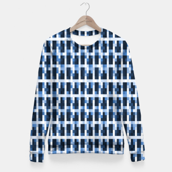 Miniatur Blue Pixelated Pattern Fitted Waist Sweater, Live Heroes