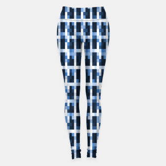 Thumbnail image of Blue Pixelated Pattern Leggings, Live Heroes