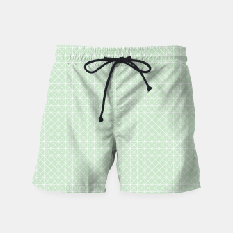 Thumbnail image of geometry graphic design Swim Shorts, Live Heroes