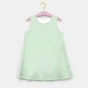 Thumbnail image of geometry graphic design Girl's Summer Dress, Live Heroes