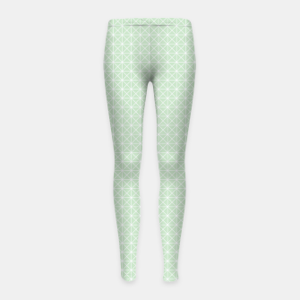 Thumbnail image of geometry graphic design Girl's Leggings, Live Heroes