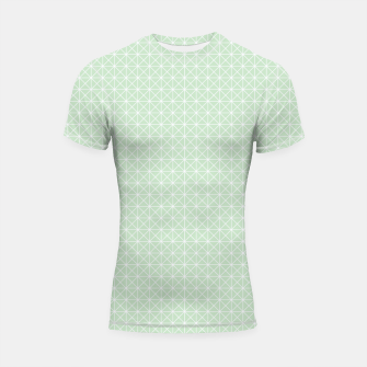 Thumbnail image of geometry graphic design Shortsleeve Rashguard, Live Heroes