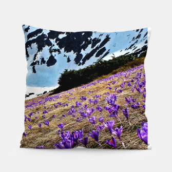 Thumbnail image of Violets field Pillow, Live Heroes