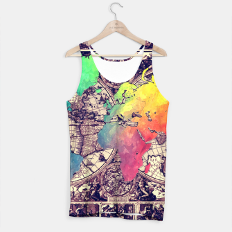 world map Tank Top obraz miniatury