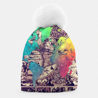 world map Czapka obraz miniatury