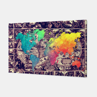 world map Canvas Bild der Miniatur