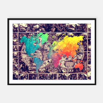 world map Plakaty w ramie  Bild der Miniatur