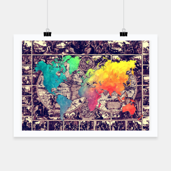 world map Plakat obraz miniatury