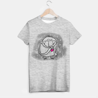Thumbnail image of Everything with Love #happyman T-shirt regular, Live Heroes