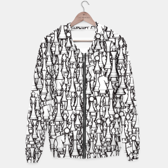 Thumbnail image of Chess Pattern II WHITE Hoodie, Live Heroes