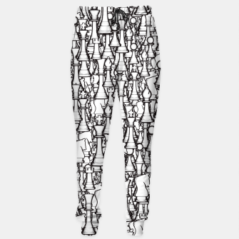 Thumbnail image of Chess Pattern II WHITE Sweatpants, Live Heroes