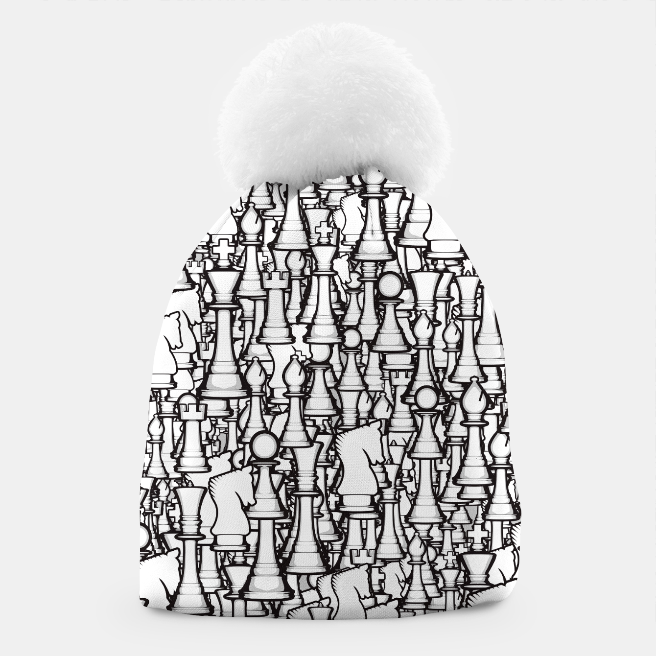 Image of Chess Pattern II WHITE Beanie - Live Heroes