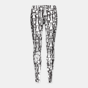 Thumbnail image of Chess Pattern II WHITE Girl's Leggings, Live Heroes