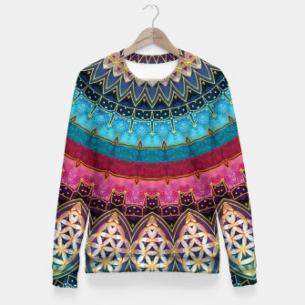 Thumbnail image of Sacred Feminine Soul Geometry  Fitted Waist Sweater, Live Heroes