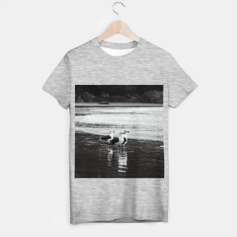Thumbnail image of Seagulls by the sea T-shirt regular, Live Heroes