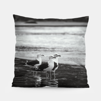 Thumbnail image of Seagulls by the sea Pillow, Live Heroes