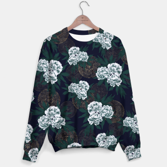 Miniaturka Japanese style peony decoration with emblem art blue Sweater, Live Heroes