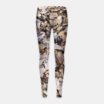 Broken shells Girl's Leggings Bild der Miniatur
