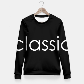 Thumbnail image of classic Fitted Waist Sweater, Live Heroes