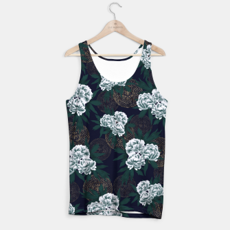 Miniaturka Japanese style peony decoration with emblem art blue Tank Top, Live Heroes