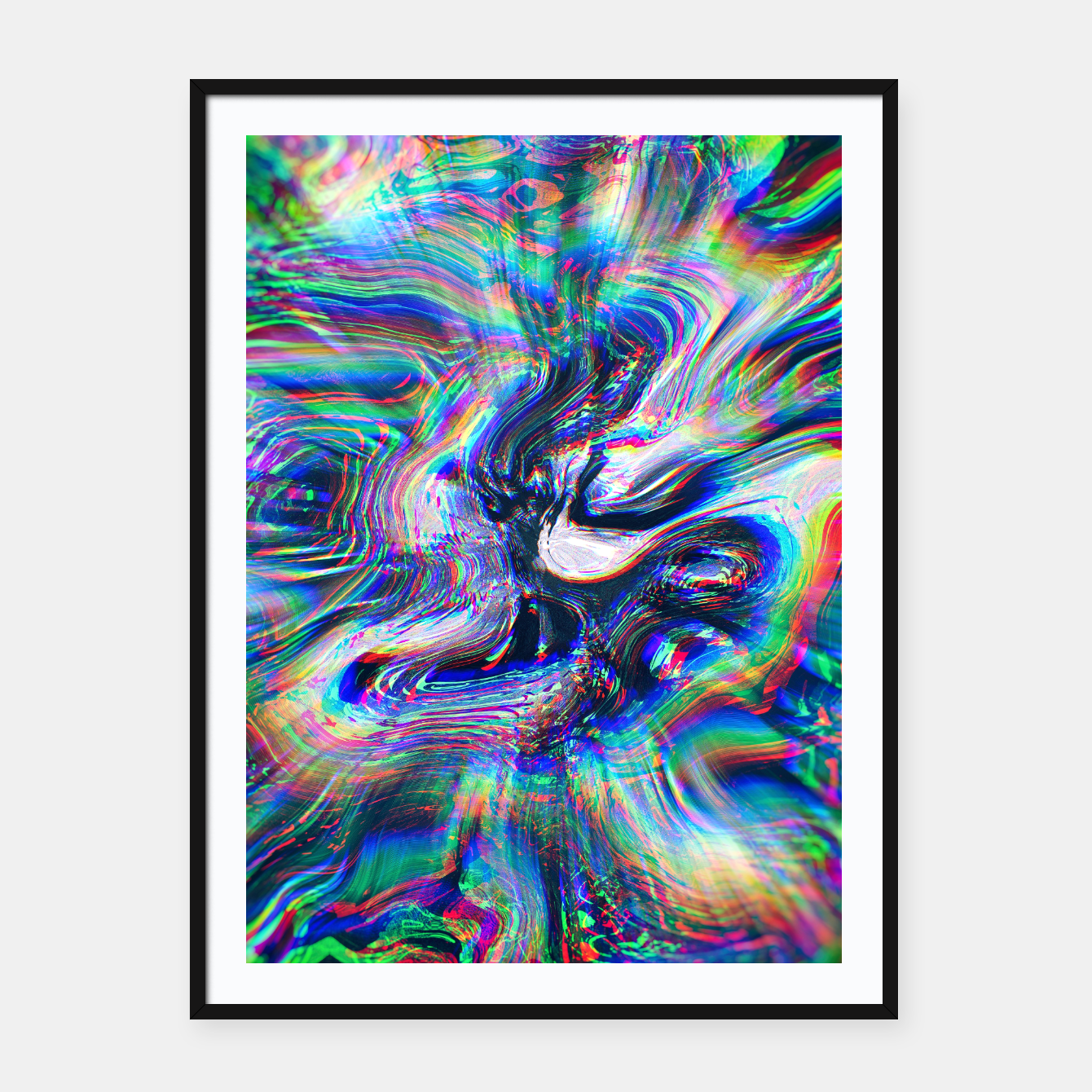 Foto Abstract Marble Glitch Framed poster - Live Heroes