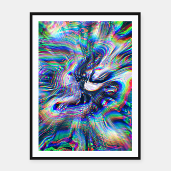 Miniaturka Abstract Marble Glitch Framed poster, Live Heroes