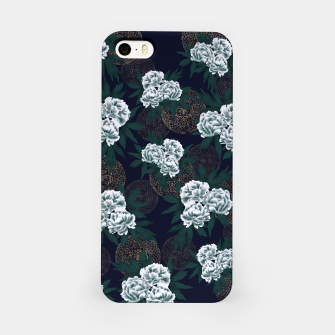 Miniaturka Japanese style peony decoration with emblem art blue iPhone Case, Live Heroes