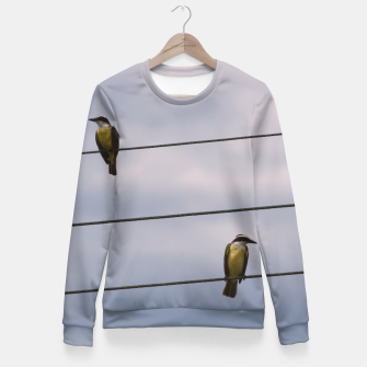 Miniatur Birds on wires Fitted Waist Sweater, Live Heroes