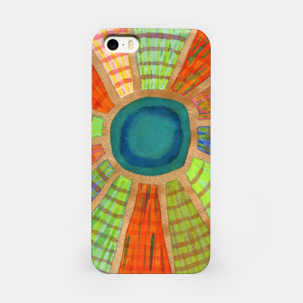 Miniatur Blue radiating Sun  iPhone Case, Live Heroes
