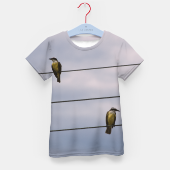Miniatur Birds on wires Kid's T-shirt, Live Heroes