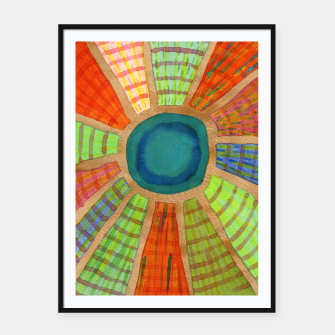 Miniatur Blue radiating Sun  Framed poster, Live Heroes