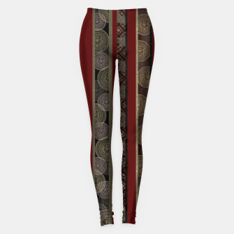 Miniatur Japanese emblem decoration stripe red Leggings, Live Heroes