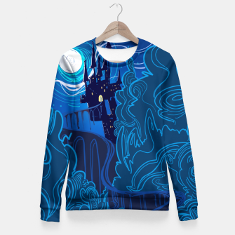 Miniatur Road to Spooky Castle Fitted Waist Sweater, Live Heroes