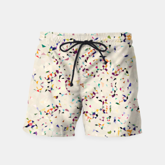 Thumbnail image of fun pattern Swim Shorts, Live Heroes